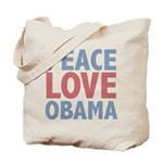 Peace Love Obama President Tote Bag
