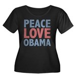 Peace Love Obama President Women's Plus Size Scoop