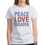 Peace Love Obama President Women's T-Shirt