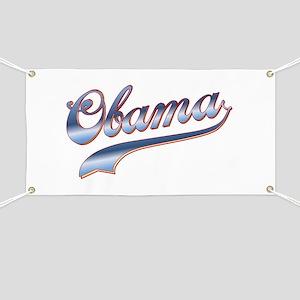 Obama Baseball Style Swoosh Banner