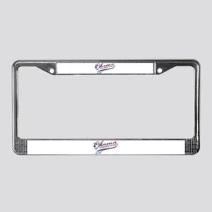 Obama Baseball Style Swoosh License Plate Frame