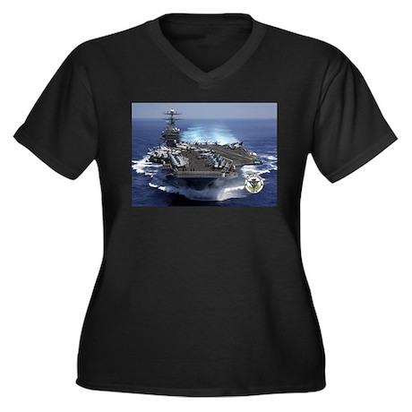 USS Carl Vinson CVN-70 Women's Plus Size V-Neck Da
