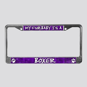 Furbaby Boxer License Plate Frame