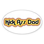Kick Ass Dad Oval Sticker (50 pk)