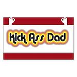 Kick Ass Dad Rectangle Sticker 10 pk)
