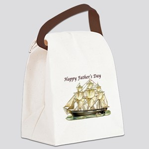 Father's Day Classic Tall Ship Canvas Lunch Bag
