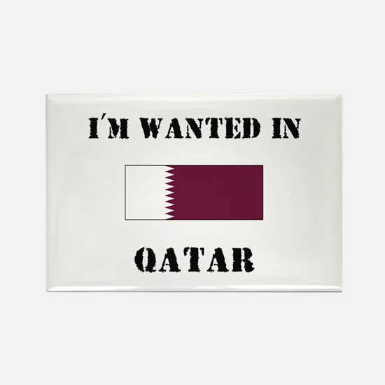 I'm Wanted In Qatar Rectangle Magnet
