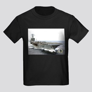 USS Carl Vinson CVN-70 Kids Dark T-Shirt