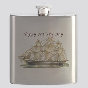 Father's Day Classic Tall Ship Flask