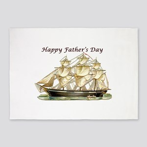 Father's Day Classic Tall Ship 5'x7'Area Rug
