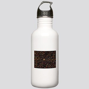 Medieval Flowers on Bl Stainless Water Bottle 1.0L