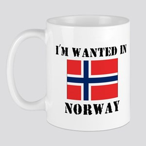 I'm Wanted In Norway Mug