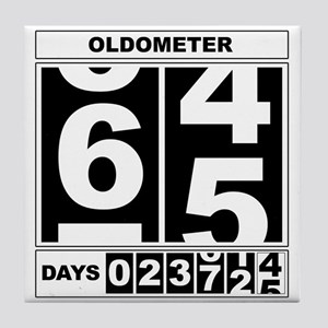 65th Birthday Oldometer Tile Coaster