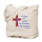 Song/Sermon Treble Clef Tote Bag