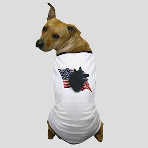 Schipperke Flag Dog T-Shirt