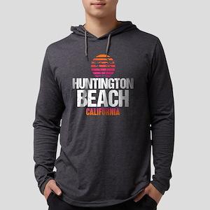 Sunset Huntington Beach Mens Hooded Shirt