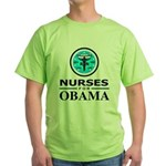 Nurses for Obama Green T-Shirt