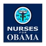 Nurses for Obama Tile Coaster