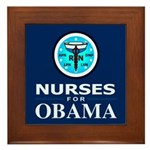 Nurses for Obama Framed Tile