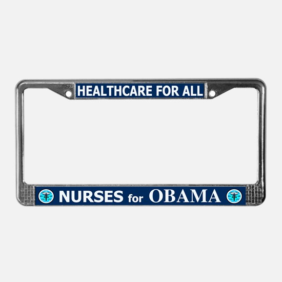 Nurses for Obama License Plate Frame