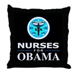 Nurses for Obama Throw Pillow