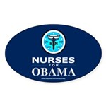 Nurses for Obama Oval Sticker (10 pk)