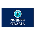 Nurses for Obama Rectangle Sticker