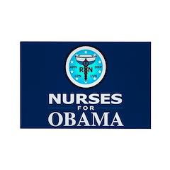 Nurses for Obama Rectangle Magnet (100 pack)