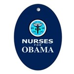 Nurses for Obama Oval Ornament