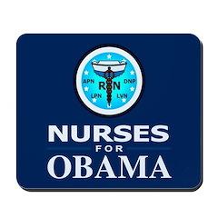 Nurses for Obama Mousepad