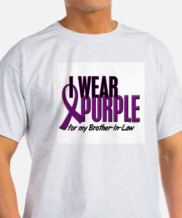I Wear Purple For My Brother-In-Law 10 T-Shirt