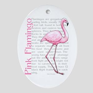 Pink Flamingo Oval Ornament