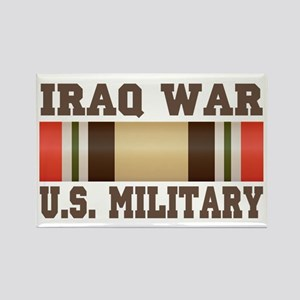 Iraq War Service Ribbon Rectangle Magnet