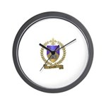 CLOUTIER Family Crest Wall Clock
