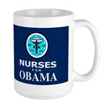Nurses for Obama Dark Large Mug