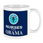 Nurses for Obama Dark Mug