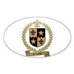 COMEAU Family Crest Oval Sticker