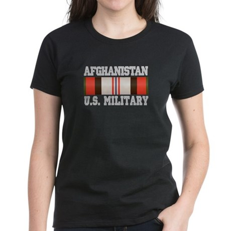 Afghanistan US Military Women's Dark T-Shirt