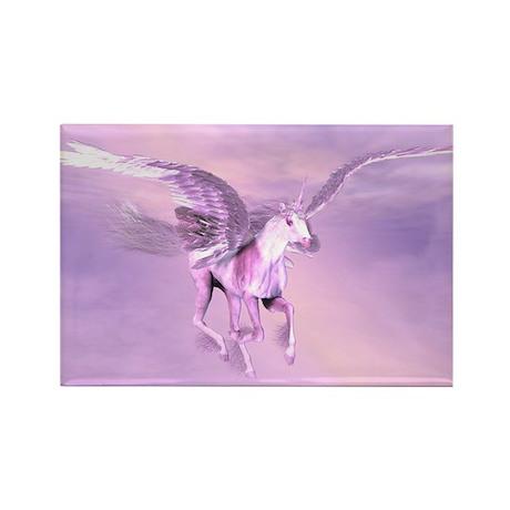 Winged Unicorn Rectangle Magnet (100 pack)