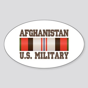 Afghanistan US Military Sticker (Oval)