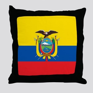 Flag of Ecuador Throw Pillow