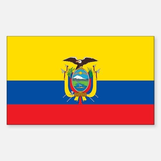 Flag of Ecuador Sticker (Rectangle)