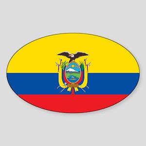 Flag of Ecuador Sticker (Oval)