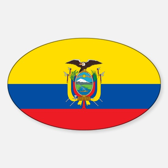 Flag of Ecuador Sticker (Oval)