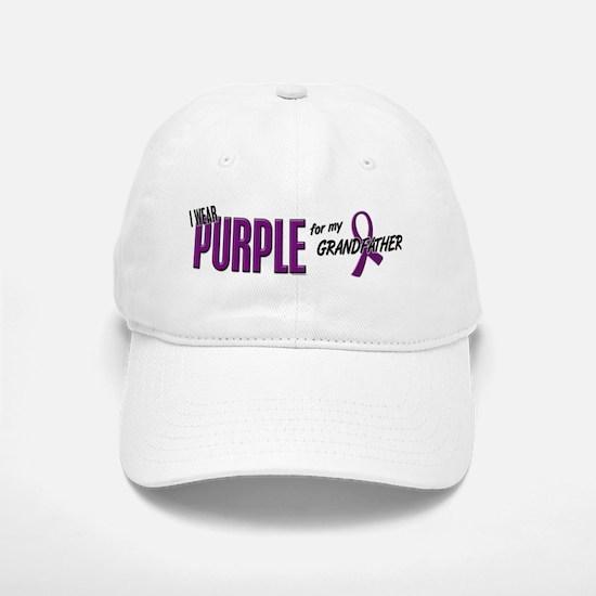 I Wear Purple For My Grandfather 10 Baseball Baseball Cap