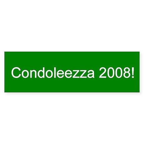 Condoleezza 2008 Bumper Sticker