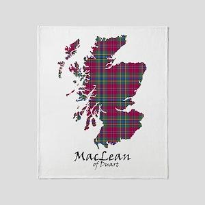 Map-MacLeanDuart Throw Blanket