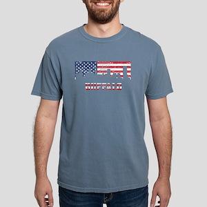 Buffalo NY American Flag Skyline T-Shirt