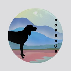 Coonhound Mountains Ornament (Round)