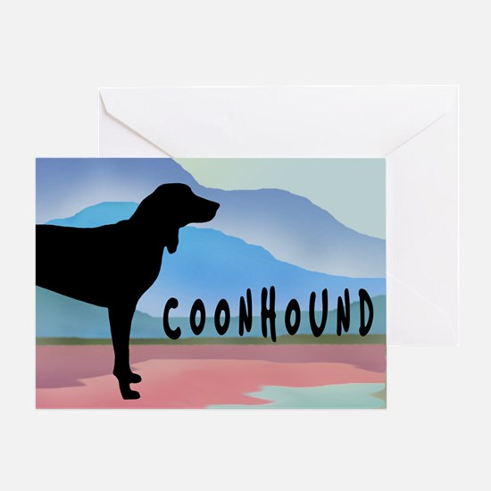 Coonhound Mountains Greeting Card